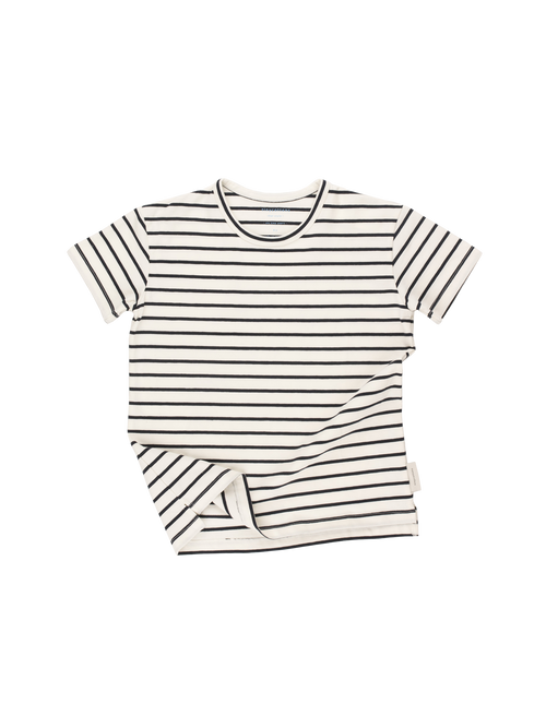 Tinycottons Short-Sleeved Striped Tee, Navy