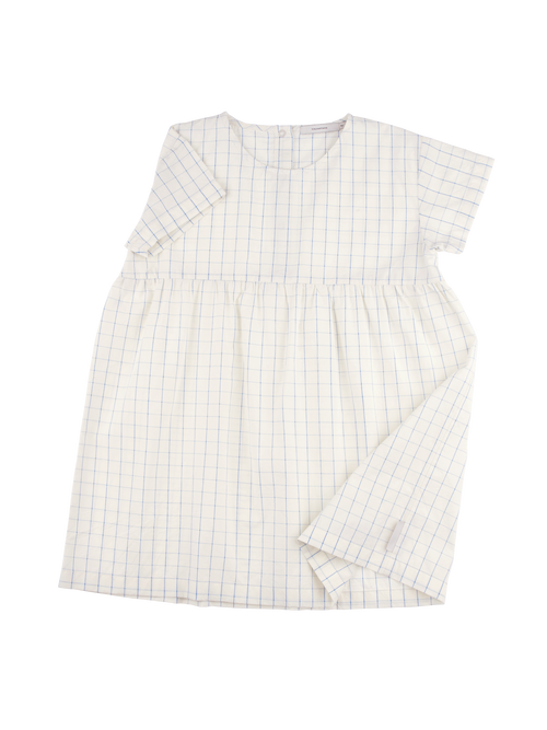 Tinycottons Grid Dress, Blue