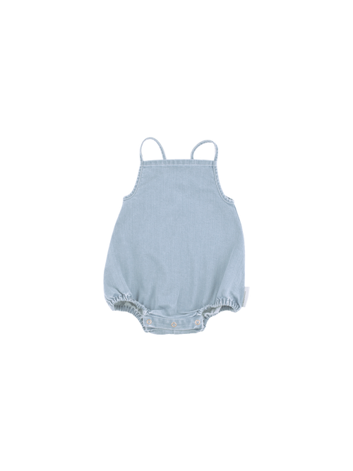 Tinycottons Sleeveless Bodysuit, Denim