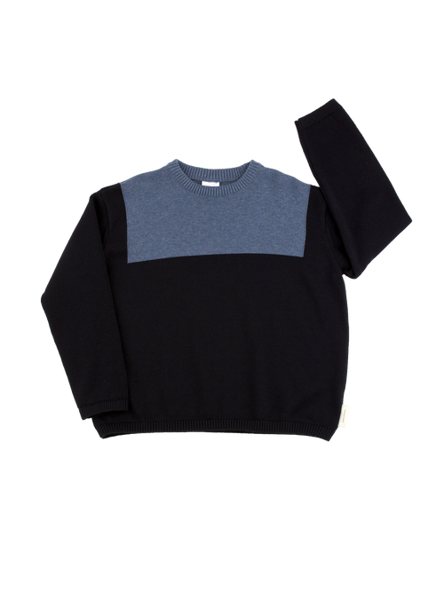 Tinycottons Sailor Sweater, Navy/Light Navy
