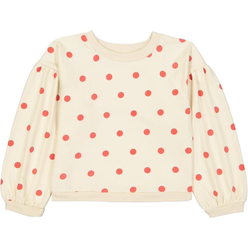 Sam Sweatshirt, Dots Red
