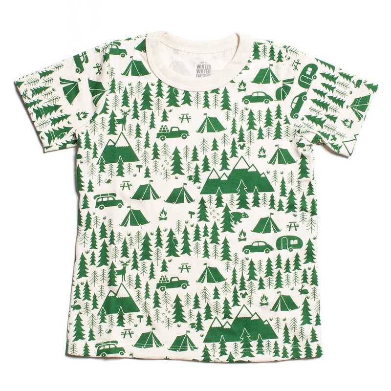 Winter Water Factory Short Sleeve Tee, Campground Green