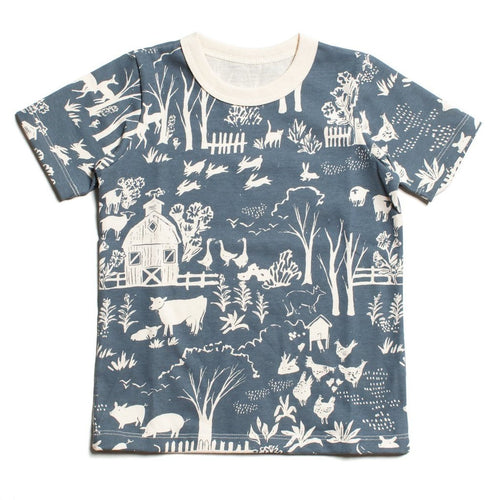 Winter Water Factory Short Sleeve Tee, The Farm Next Door Slate Blue