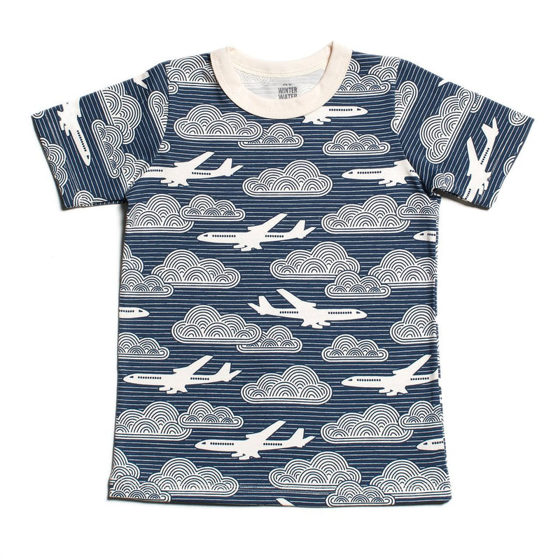 Short Sleeve Tee, In The Clouds Navy