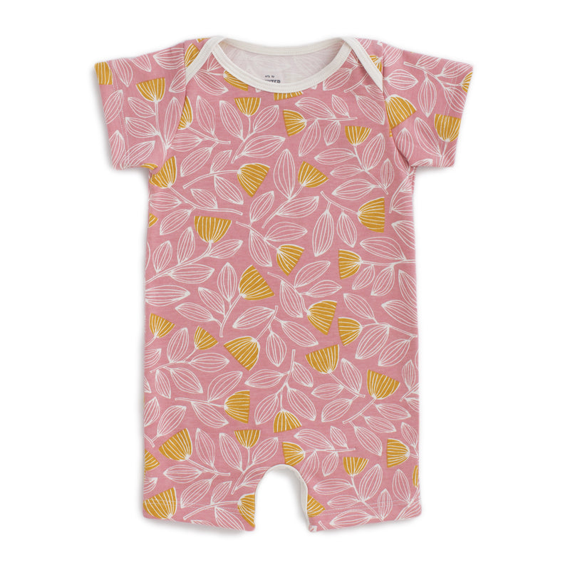 Summer Romper, Holland Floral Dusty Pink & Yellow