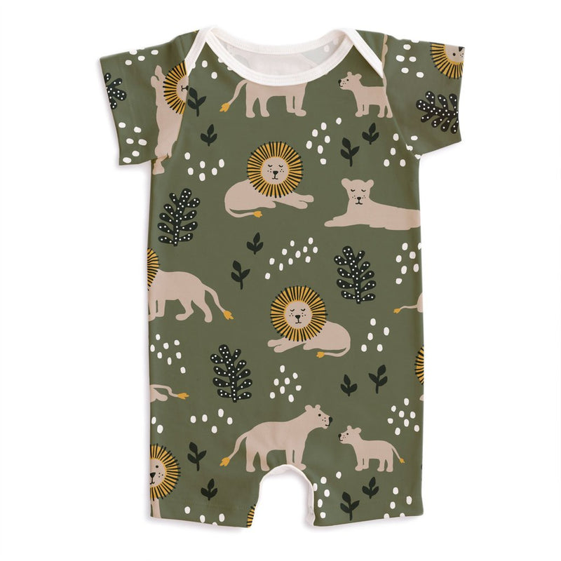 Summer Romper, Lions Forest Green