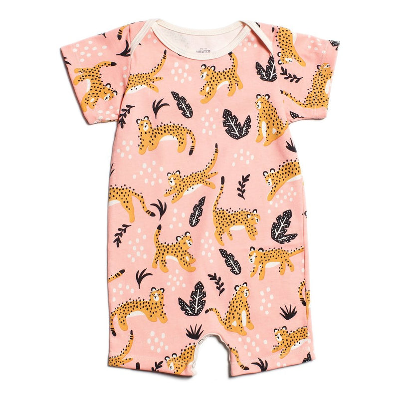Winter Water Factory Summer Romper, Wildcats Blush Pink