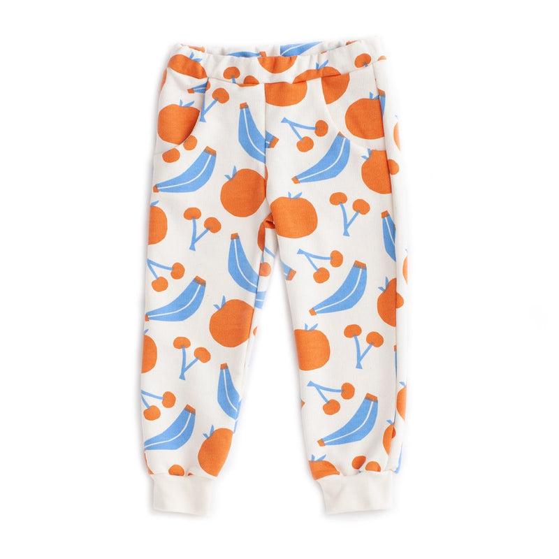 Sweatpants, Yummy Fruit Blue & Orange