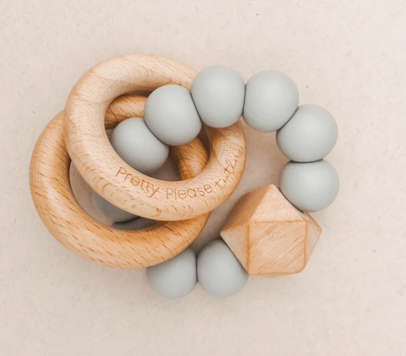 Sawyer XL Teething Rattle, Eucalyptus