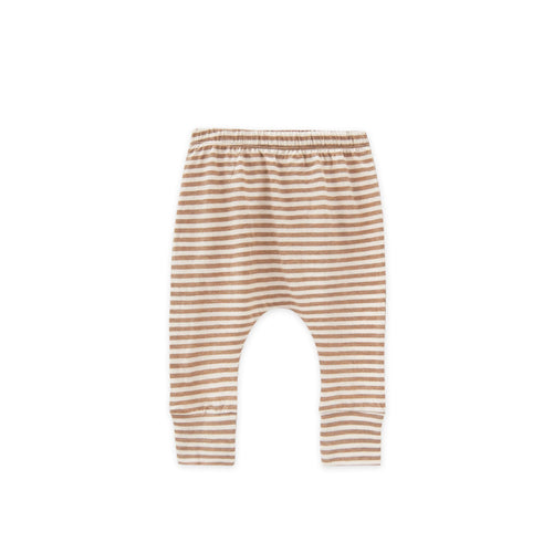 Go Gently Nation Skinny Jersey Harem, Tan Stripe