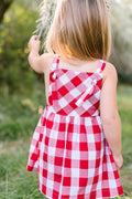 Pinafore Dress, Rose Stripe