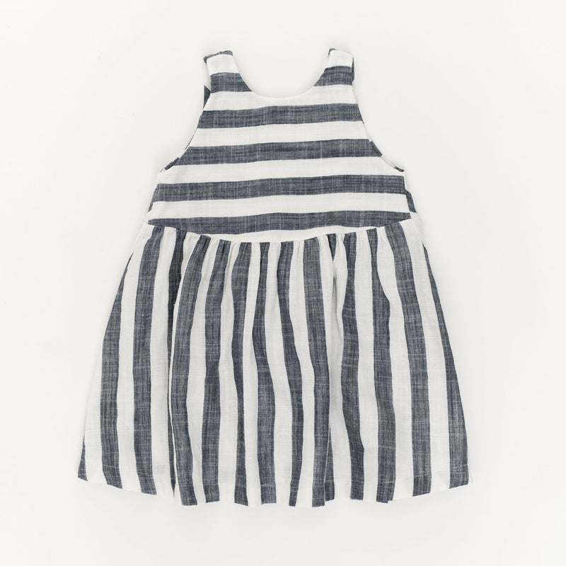 Weekend Dress, Midnight Stripe