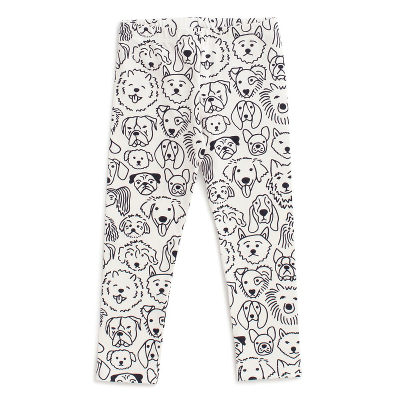 Baby Leggings, Dogs Black