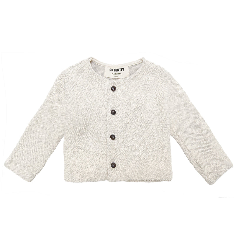 Go Gently Nation Textured Knit Coat, Natural