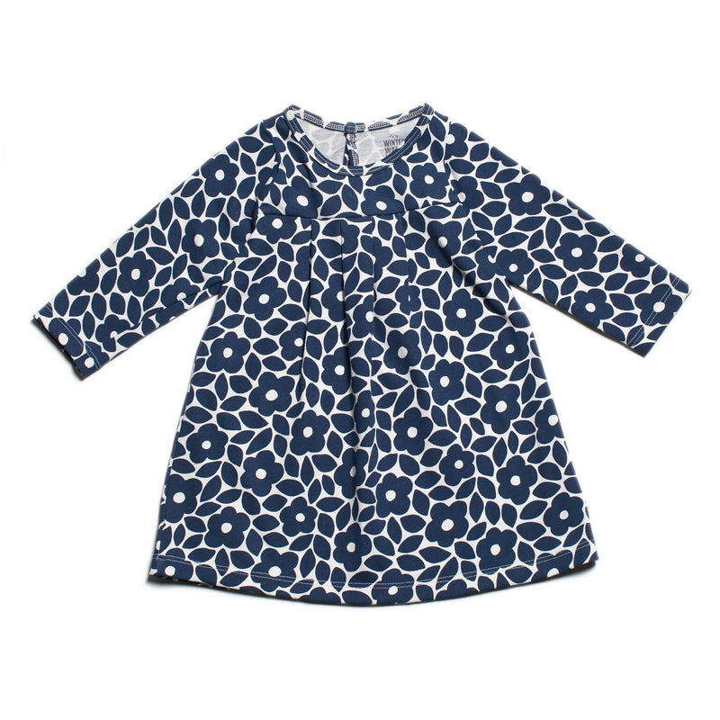 Winter Water Factory Toronto Baby Dress, Floral Midnight Blue