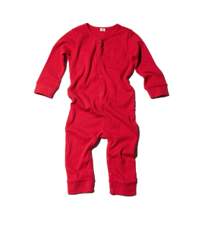 GOAT-MILK Union Suit, Crimson