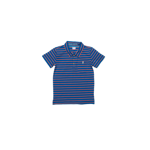 Egg Harrison Polo, Red Stripe