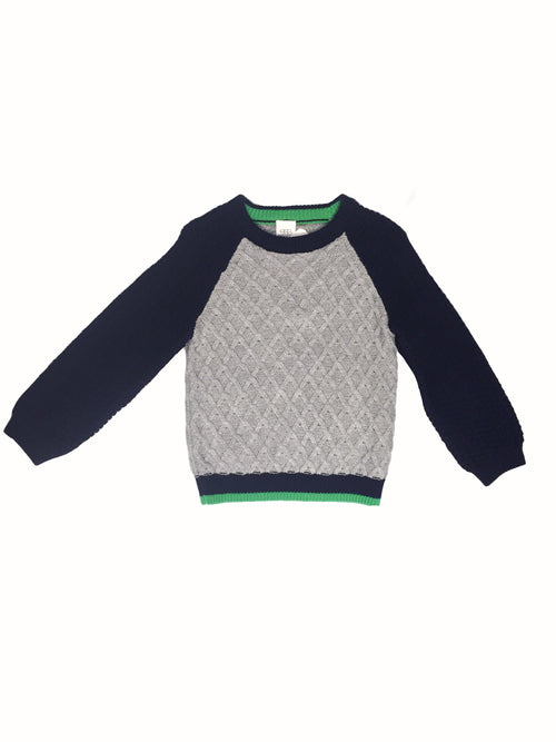 Egg Jackson Raglan Sweater, Grey