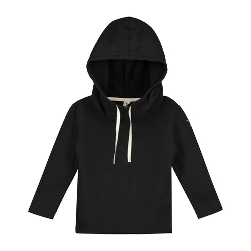 Gray Label Wide Neck Hooded Sweater, Nearly Black