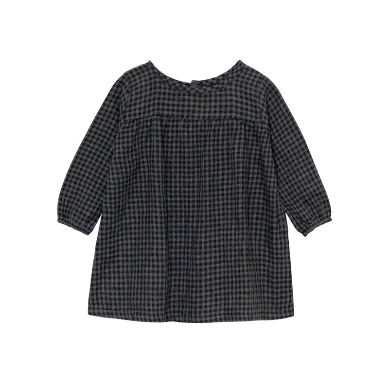 Go Gently Nation Mila Dress, Black/Gray Gingham