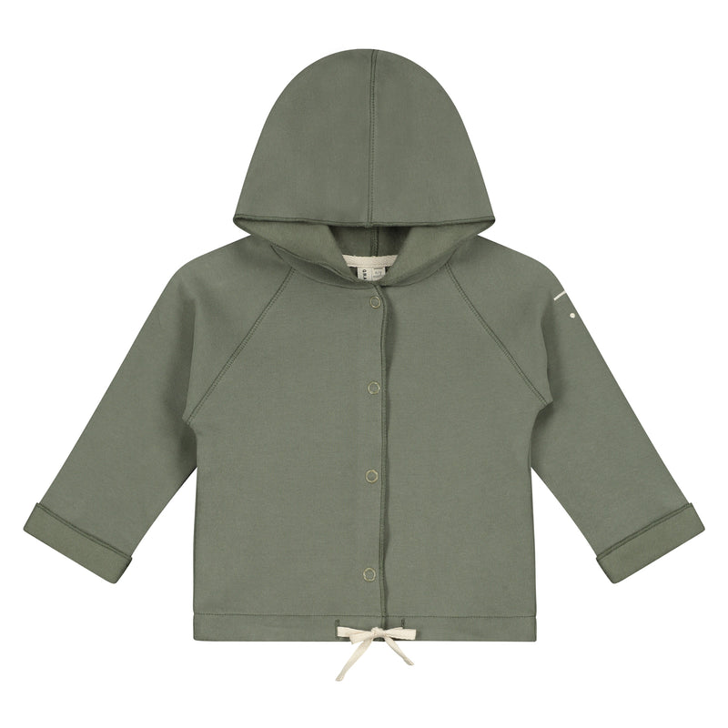 Gray Label Baby Hooded Cardigan, Moss