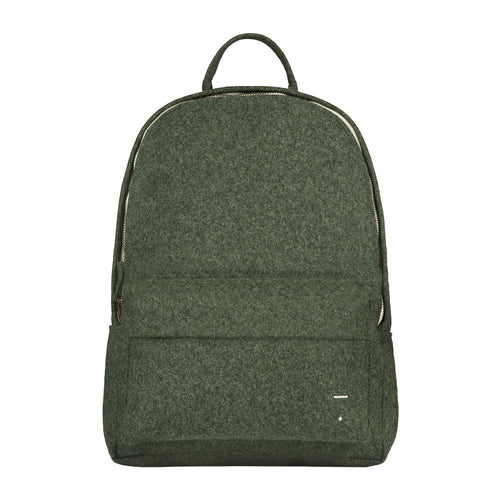 Gray Label Felt Backpack, Moss