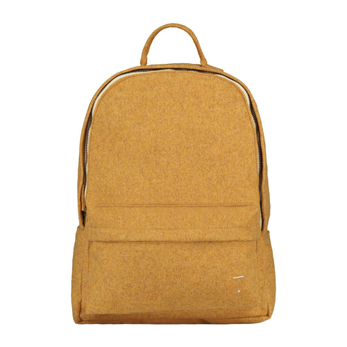 Gray Label Felt Backpack, Mustard