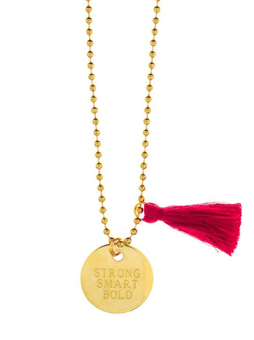 Gunner & Lux + Girls Inc Necklace, Strong Smart Bold