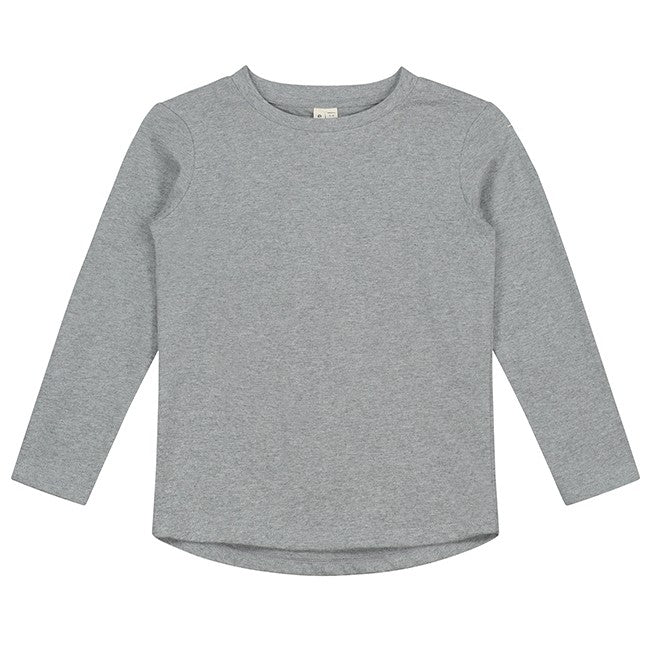 Gray Label Long Sleeve Tee, Grey Melange