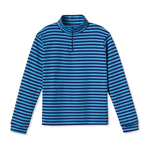 Harrison 1/4 Zip, Alaskan Blue Bright Navy Stripe