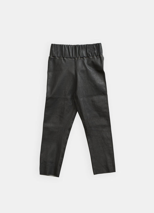 Belle Enfant Leather Leggings, Black