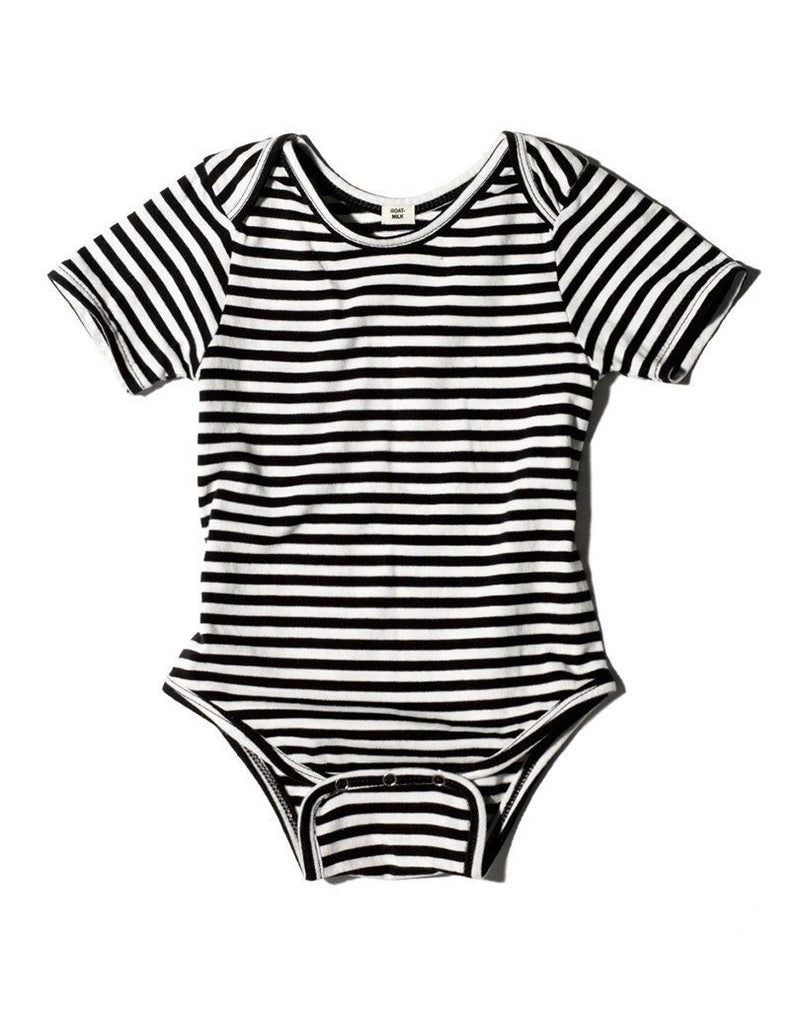 GOAT-Milk Short Sleeved Onesie, Striped