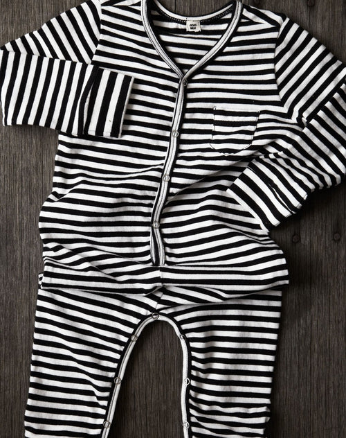GOAT-MILK Union Suit, Striped