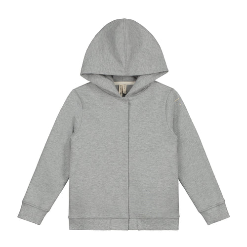 Hooded Cardigan, Grey Melange