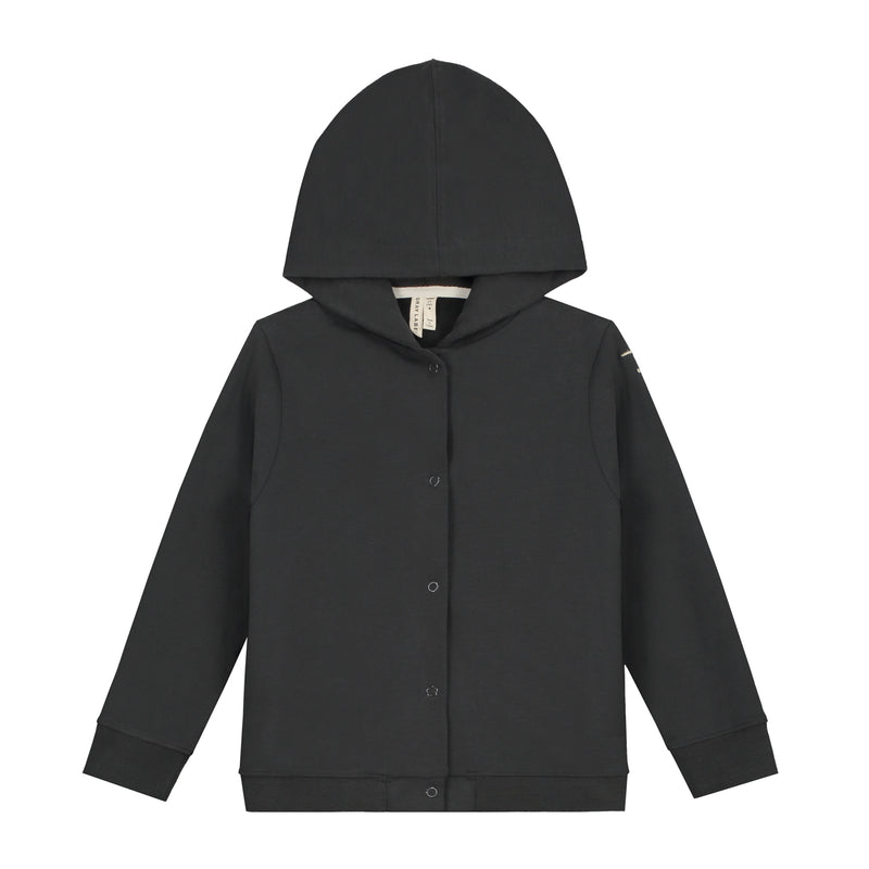 Hooded Cardigan, Nearly Black