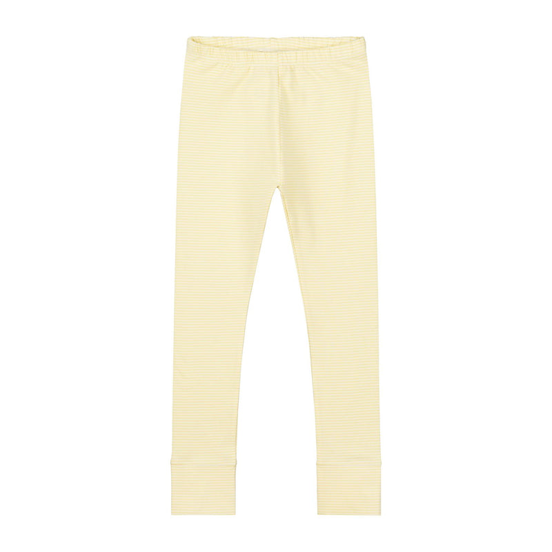 Leggings, Mellow Yellow/Cream Stripe