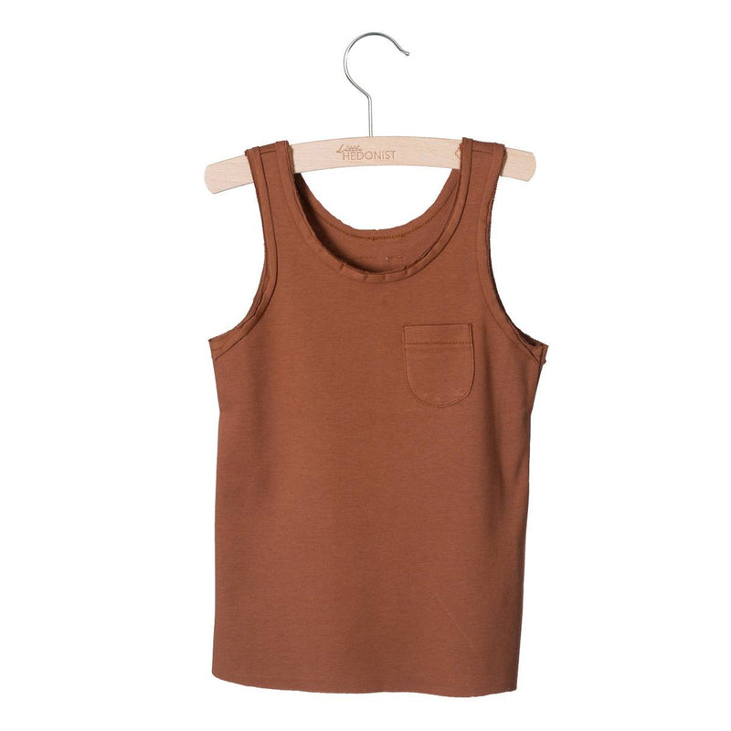Little Hedonist Lily Tank Top, Mocha