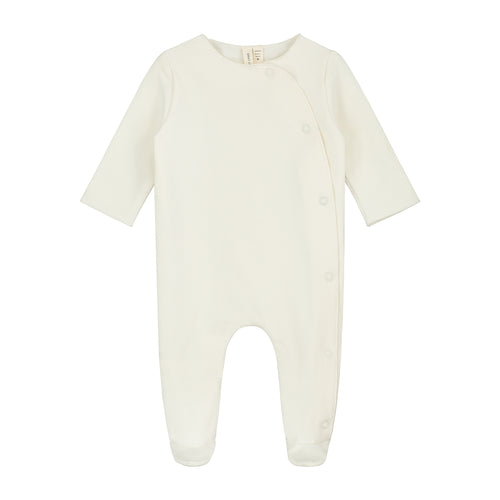 Gray Label Newborn Suit with Snaps, Cream