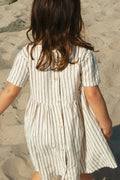 S/S Prairie Dress, Fennel Stripe
