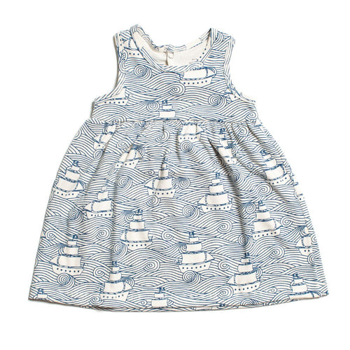 Winter Water Factory Oslo Baby Dress, High Seas Navy