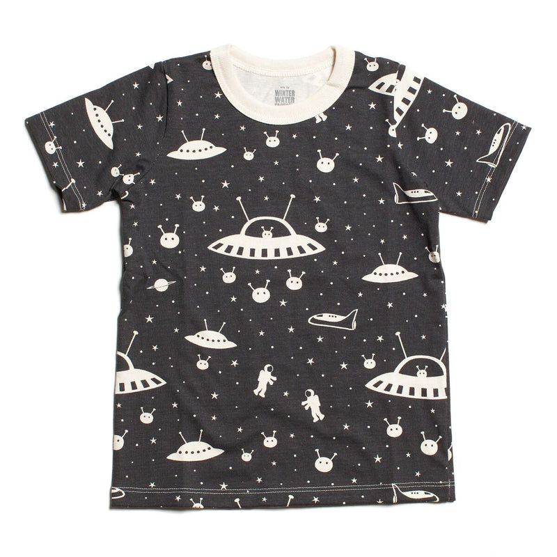 Winter Water Factory Short Sleeve Tee, Outer Space Charcoal