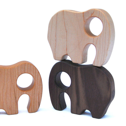 Manzanita Kids Rattle, Elephant