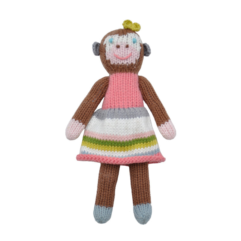 School Book Girl Monkey Rattle