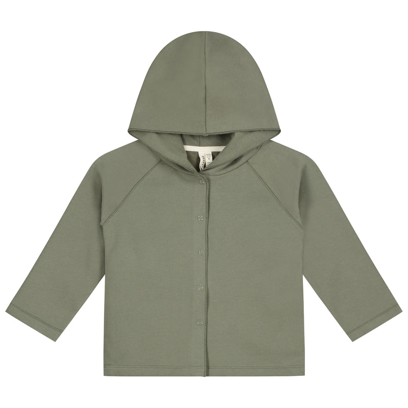Gray Label Relaxed Hooded Cardigan, Moss