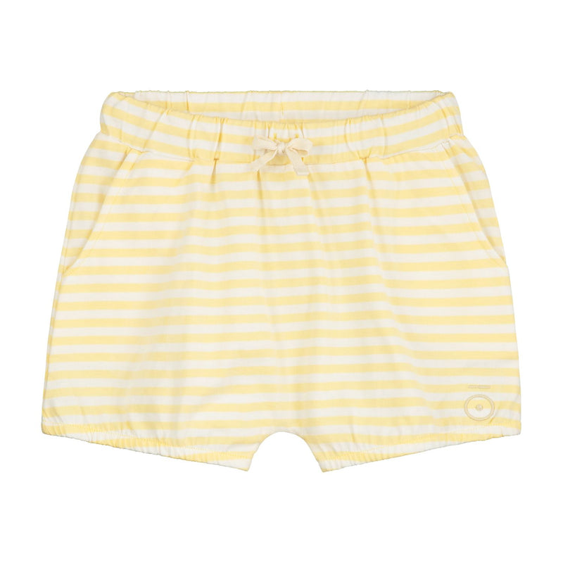 Puffy Shorts, Mellow Yellow/Off White