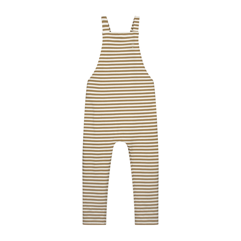 Gray Label Salopette, Peanut/Off White Stripe