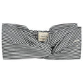 Gray Label Twist Headband, Nearly Black/Off White Stripe