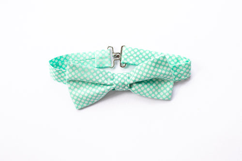 Stars and Dandelions Bow Tie, Vintage Aqua Dots