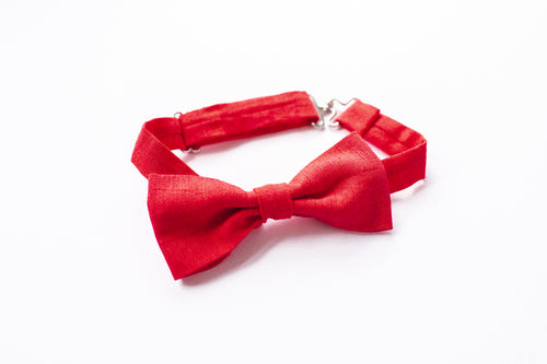 Stars and Dandelions Bow Tie, Red