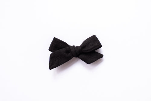 Stars and Dandelions Josie Small/Pig Tail Bow, Black
